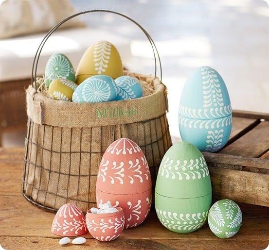 paper mache eggs