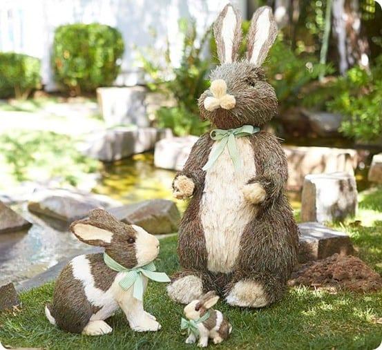 Sisal Bunny and Moss Spring Wreath