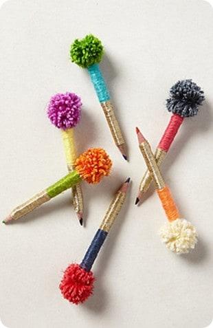 pom pom pencils