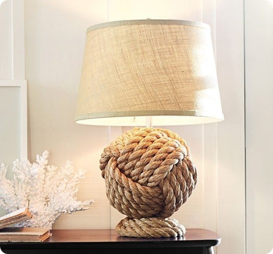 Nautical Rope Knot Lamp For 25 Knockoffdecor Com