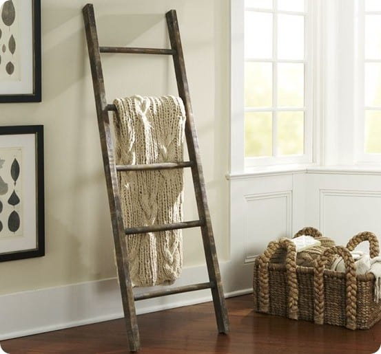 Rustic Blanket Ladder for $5