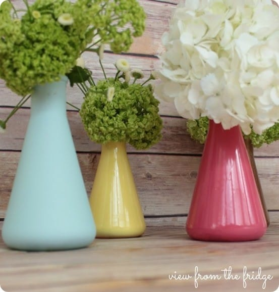spring vase from flask