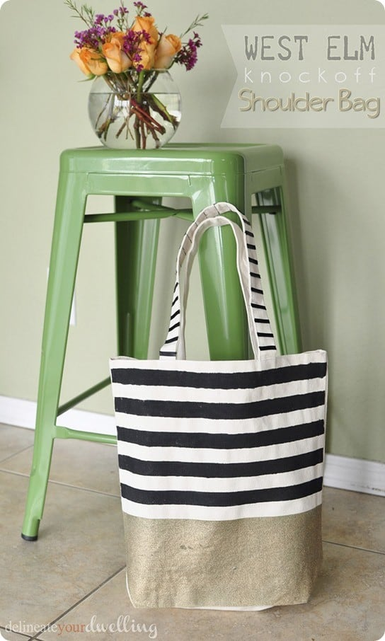 west elm knock off shoulder bag