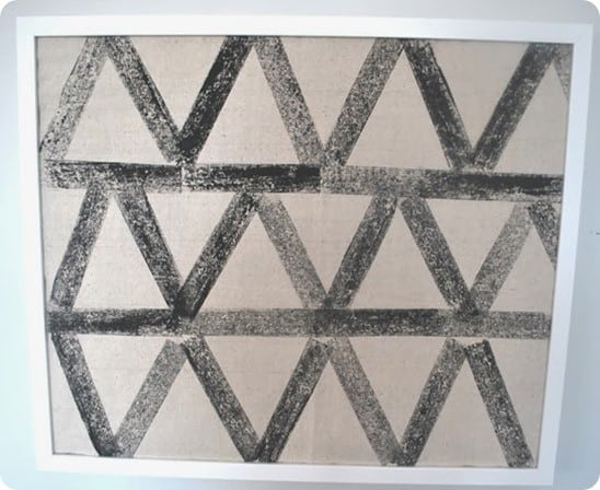 wool kilim inspired artwork
