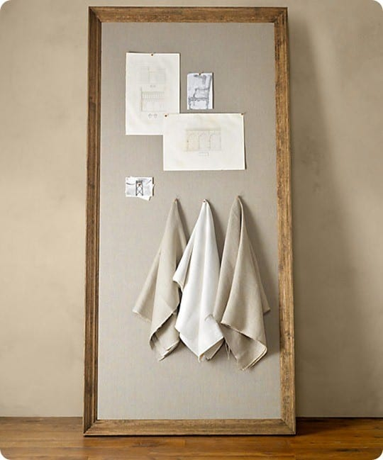 Tame paper clutter with linen pin boards for Linen cork board