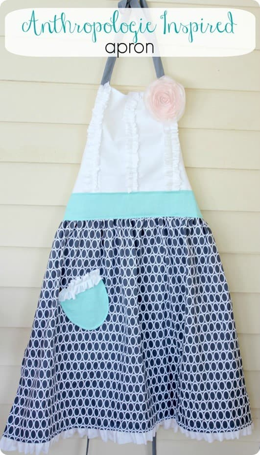 anthropologie inspired apron