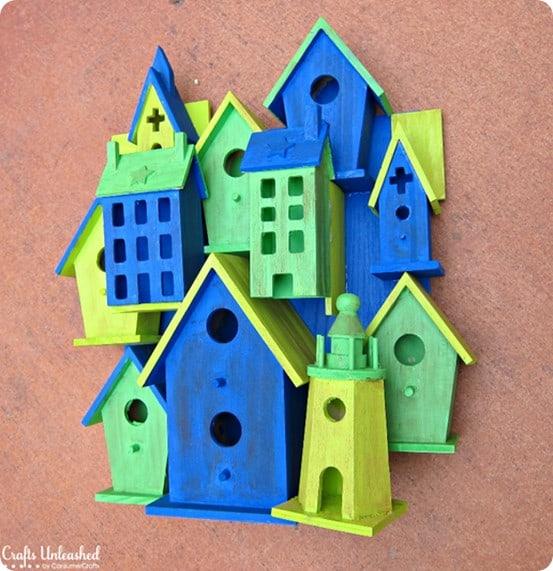 birdhouse garden sculpture