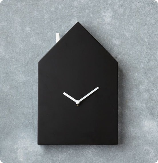 chalkboard house clock