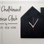 diy chalkboard house clock