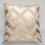 diy metallic gold pillow