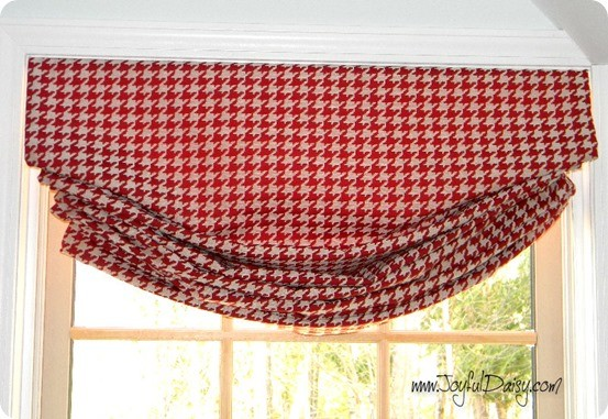 diy relaxed roman shade