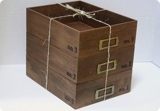 diy stacking wood storage crates