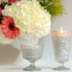diy vintage glass candles