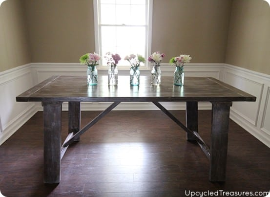 diy weathered farmhouse dining table