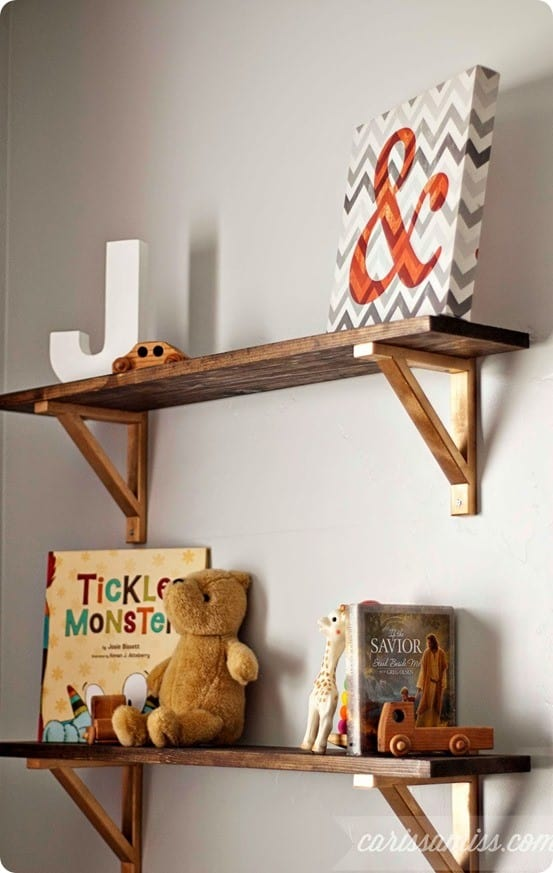 Diy Wood Shelves With Metal Brackets