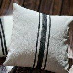 "Painted Stripe ""Grain Sack"" Pillows"