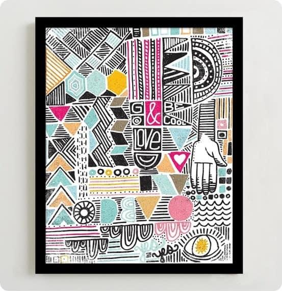 geo print wall art