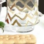 Glitzy Gold Chevron Painted Glasses