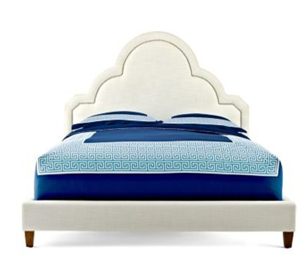 happy chic crescent upholstered bed