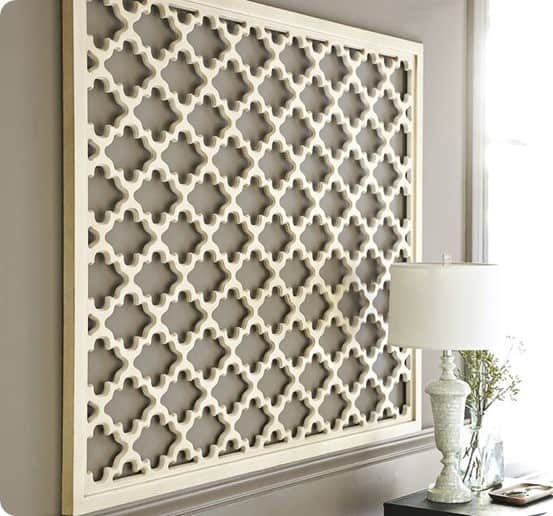 lattice panel wall art