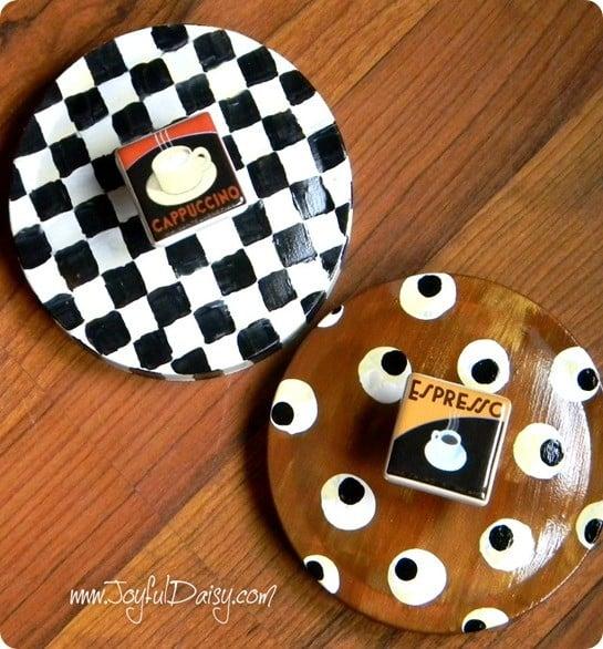 mackenzie childs knock off cookie jar lids