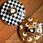 Painted Cookie Jar Lids with Decorative Knobs