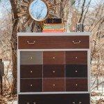 """Mid-Century Modern Dresser """"Patchwork"""" Makeover"""