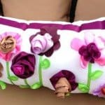 No-Sew Flower Garden Outdoor Pillow