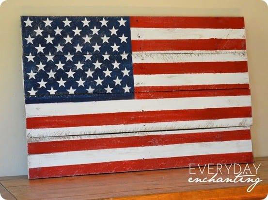Rustic pallet wood american flag - American flag pallet art ...