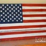Rustic Pallet Wood American Flag