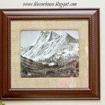 Framed Art on the Cheap with Burlap Mat