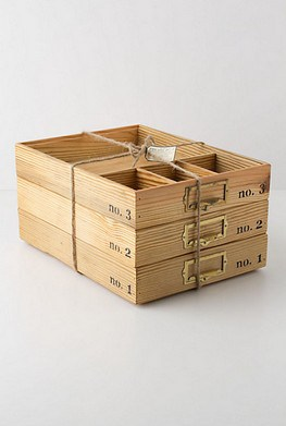 stacking wood trays