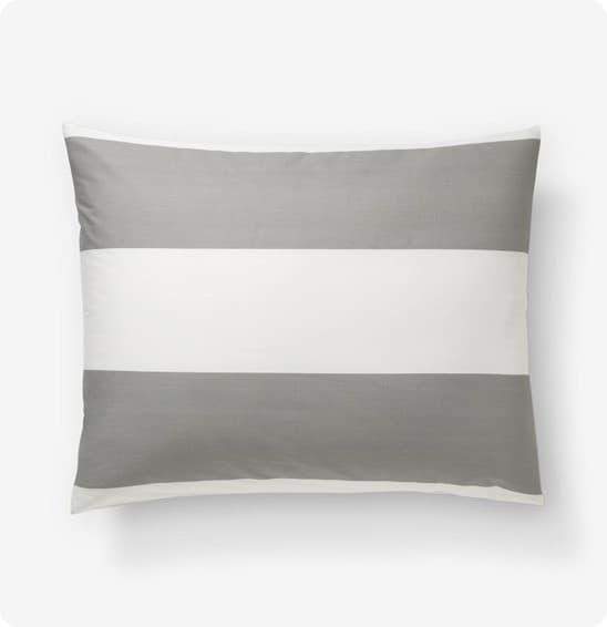stripe sham