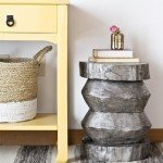 Tree Stump to Metallic Side Table