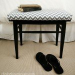 upholstered chevron bench