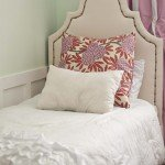 Upholstered Twin Bed for a Little Girl's Room