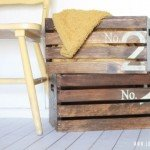 vintage numbered wood crates