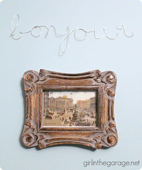 wire bonjour word art