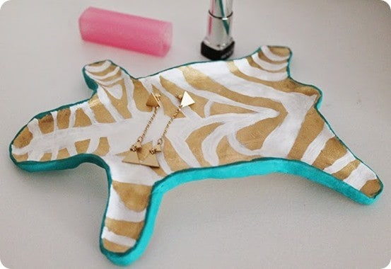 zebra jewelry dish catchall