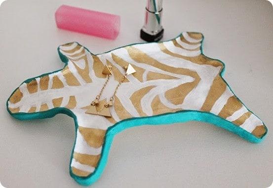 zebra jewelry dish catchall