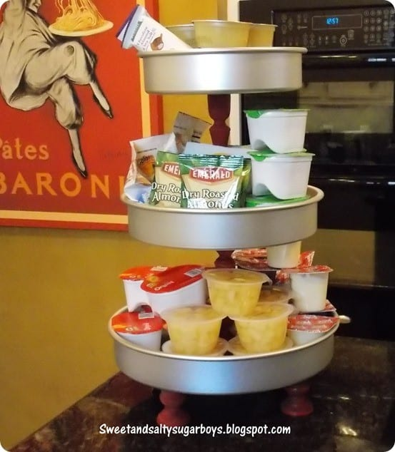 DIY dessert stand from cake pans