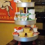 Repurpose Cake Pans into a Snack Stand