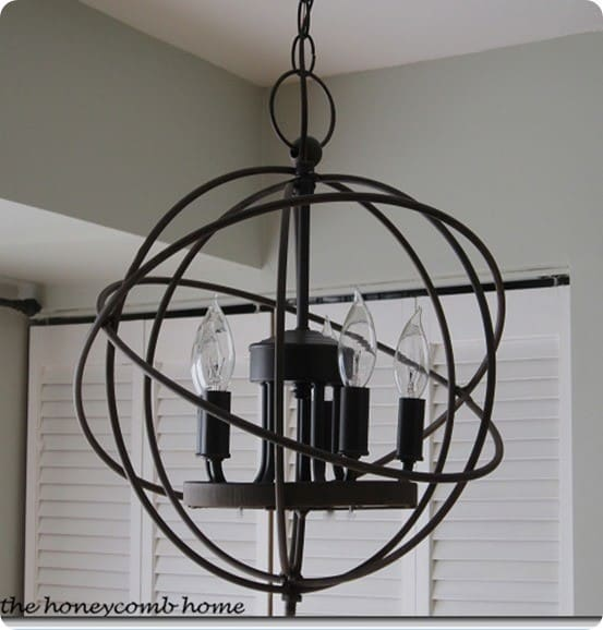 DIY orb chandelier 2
