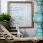 "Faux Bois ""Every Day I Love You"" Wall Art"