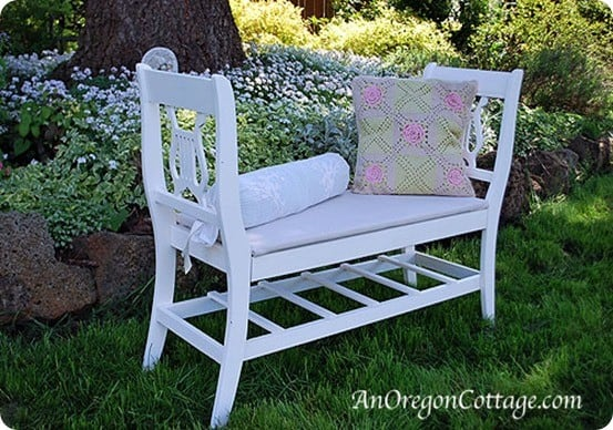 Turn Old Chairs Into A French Style Bench