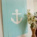 Nautical Pallet Anchor Sign