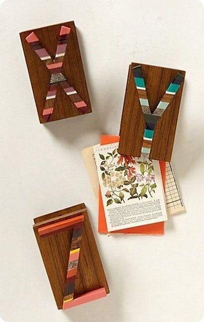 anthropologie candied letter desk clips