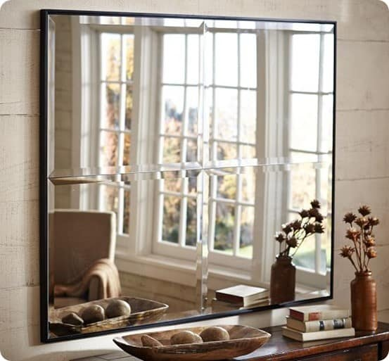 brinkley beveled mirror pottery barn
