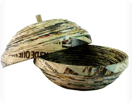 decorative newspaper bowl