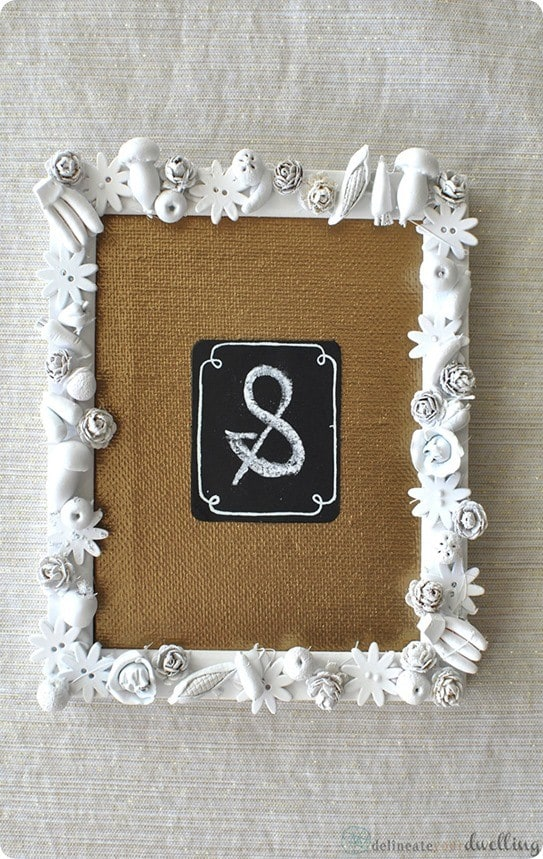diy embellished picture frame
